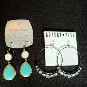 Crystal and Turquoise Earing Bundle